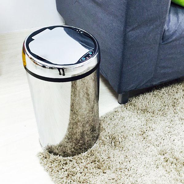 【H&R安室家】不鏽鋼智能感應式垃圾桶-12L-PBL89