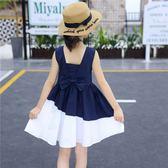 女童裙子洋氣兒童洋裝中大童小女孩公主裙韓版  伊衫風尚