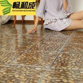 自黏地板革 pvc地板地膠板家用地板貼防水塑膠加厚地板紙  igo K-shoes