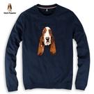 Hush Puppies T恤 男裝精緻刺繡狗頭長袖T恤
