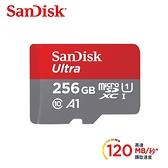 【聖影數位】SanDisk Ultra microSDXC 256GB 記憶卡(無轉卡) TF 120MB/s Class10 U1 A1【公司貨 10年保】SDSQUA4