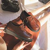 女鞋娃娃鞋復古粗跟小皮鞋女鞋厚底英倫單鞋森女娃娃鞋潮 伊蒂斯 全館免運