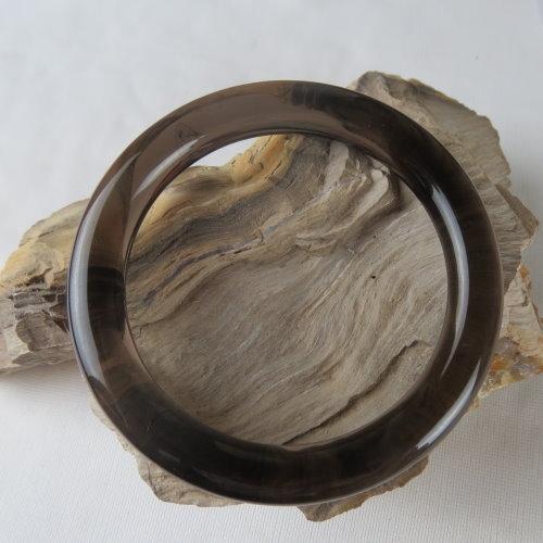天然冰種黑曜石手鐲 #1616 58mm