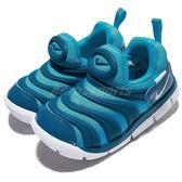 Nike 毛毛蟲鞋 Dynamo Free TD 藍 白 嬰兒鞋 幼兒鞋 小童鞋【PUMP306】 343938-424