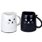 簡約黑白貓咪造型杯 單入親子杯 現貨
