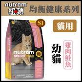 【年終回饋】*WANG*紐頓《均衡健康系列-S1幼貓/雞肉鮭魚配方》1.8kg