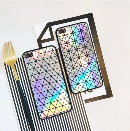 【SZ25】iPhoneX手機殼 創意三宅一生鐳射 矽膠軟殼 iPhone6/7/8plus手機殼