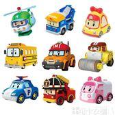 合金車警車珀利警長玩具機器人套裝玻利羅伊安巴小汽車 DF -可卡衣櫃