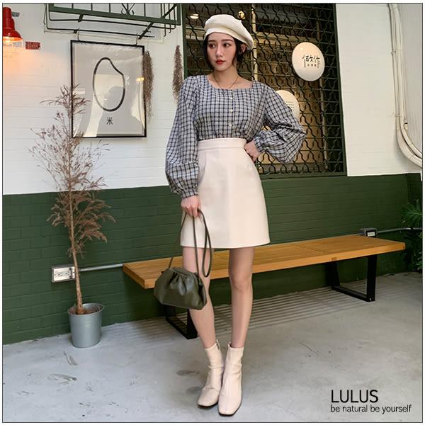 LULUS-Q皮革抓皺小包-4色  【07190038】