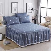 (聖誕交換禮物)棉質床裙式床罩單件全棉2米1.8m防滑8床套蕾絲邊100%床單