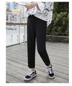 哈倫褲 冰絲蘿卜褲女哈倫褲寬鬆休閑九分高腰直筒西裝褲子夏薄款雪紡奶奶