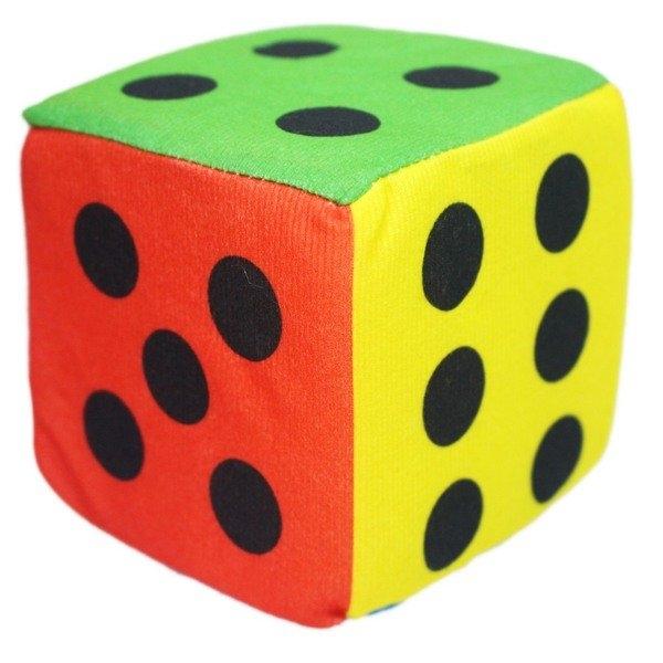 10cm 海綿骰子 鈴鐺骰子 4吋骰子/一袋10個入(促50) 布骰子 安全骰子 泡綿骰子 毛絨布數字甩子