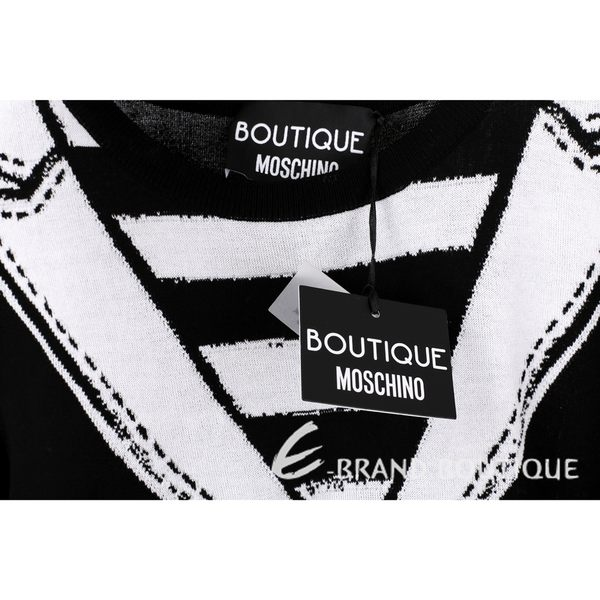 BOUTIQUE MOSCHINO 外套圖騰設計短袖針織上衣 1620522-01