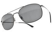 RayBan太陽眼鏡 RB3654 00487 (槍黑-藍鏡片) 時尚潮流雙槓款 # 金橘眼鏡