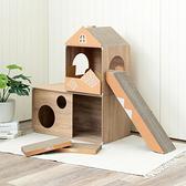 堆疊格子櫃W35鏤空-淺木紋x2+W70鏤空-淺木紋+四面景觀盒+洋房屋頂