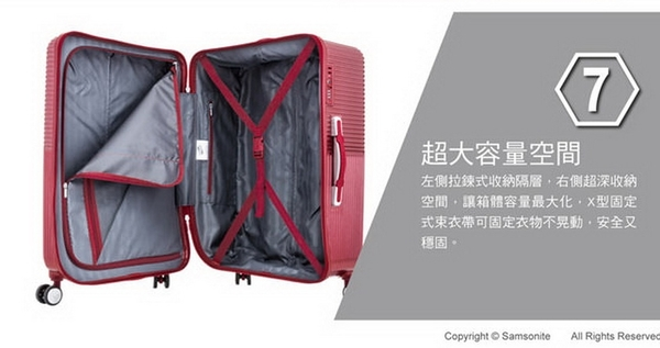 AT美國旅行者 Air Ride 29吋 2/8開防爆拉鍊 彈力滑輪PC硬殼 行李箱/旅行箱-(藍)