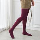 120D高級天鵝絨純色褲襪絲襪 (酒紅)