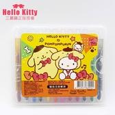Hello Kitty 凱蒂貓 12色旋轉蠟筆 三麗鷗 授權正版品 美勞 美術 藝術 蠟筆【狐狸跑跑】