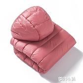 清倉輕薄羽絨服女新款短款立領連帽時尚修身秋冬大碼女裝外套ATF 雙十二購物節