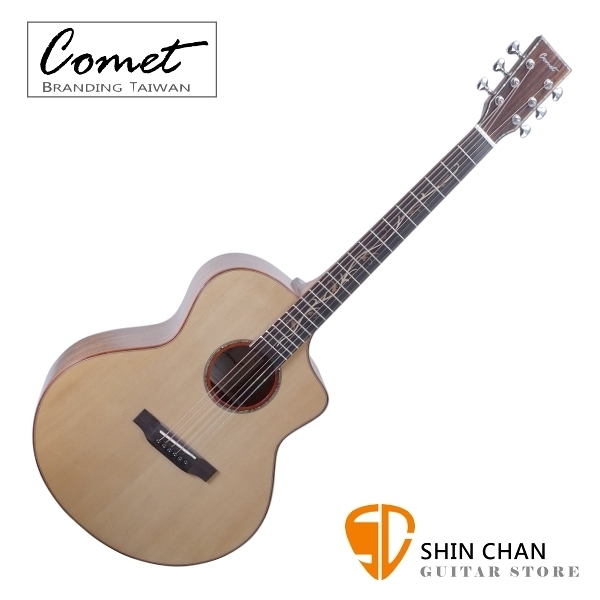 Comet C7AS 全單板切角民謠吉他 高級鑲貝 生命樹指板 送硬盒 原廠公司貨