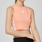 Adidas Originals 女款 粉色 三葉草 無袖 短版 背心 DX2155