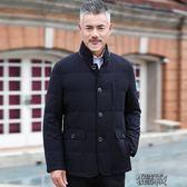中年男士立領款羽絨服外套