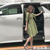 冷淡風洋裝 ins慵懶風小個子洋裝女夏季新款超仙寬鬆學生顯瘦冷淡風娃娃裙 夢幻衣都