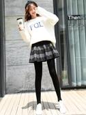 假兩件打底褲女外穿秋冬加絨加厚韓版高腰一體踩腳帶裙子百摺裙褲 韓國時尚週