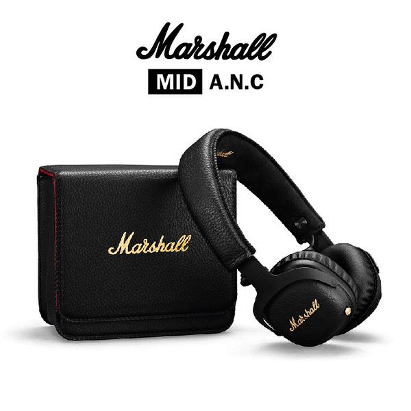 Marshall MID A.N.C.主動式抗噪藍牙耳機 無線抗躁耳機 黑色 MID
