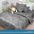 YuDo優多【魅力引線-深灰】精梳棉全舖棉雙人床包三件組-台灣製造