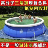 超大號充氣游泳池家用嬰兒童成人小孩加厚寶寶家庭水上樂園戲水池.igo 港仔會社