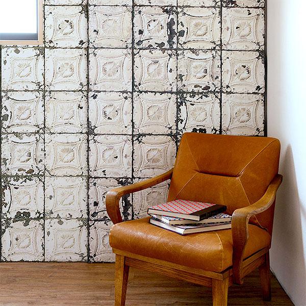 【進口牆紙】Brooklyn Tins by merci【訂貨單位48.7cm×10m/卷】荷蘭 仿真(fake) 磚紋 TIN-J1
