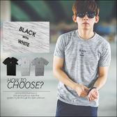 T恤 BLACK with WHITE文字雜花短T【N9938J】