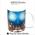 (24H) 客製 質感 彩繪 馬克杯 Mug 歡樂 海底 海豚 咖啡杯 陶瓷杯 杯子 Sara Garden 品牌手作【M0320012】