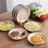 北歐風餐盤-創意家用菜盤子套裝簡約網紅小麥秸稈餐具北歐風大號盤子餐盤碟子 夏沫之戀