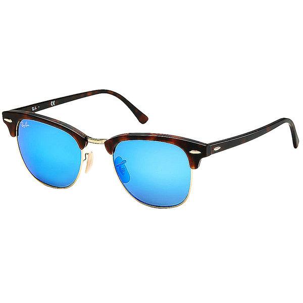 原廠公司貨-【Ray Ban 雷朋 太陽眼鏡】RB3016-114517-51復古眉框墨鏡(水銀藍鏡面-大版)