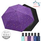 【雨之情】防曬黑膠自動傘星點6色-防風傘/防曬自動/晴雨傘
