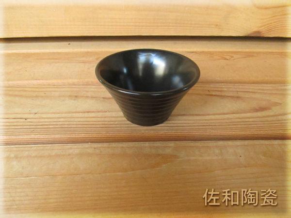 ~佐和陶瓷餐具~【82HP116-3.5 3.5吋元開小碗(霧黑)】/ 開店 餐廳 湯杯 茶杯 /