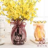 法式復古花瓶電驢玻璃花瓶裝飾擺件【櫻田川島】