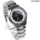TIVOLINA 同心圓 數字時刻 防水手錶 藍寶石水晶鏡面 男錶 黑色 MAW3751-K