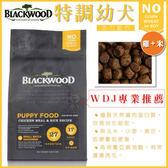 【行銷活動73折】*KING WANG*《柏萊富》blackwood 天然成長幼犬 雞肉+米 -15磅