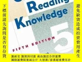 二手書博民逛書店German罕見For Reading Knowledge, 5th EditionY256260 Huber