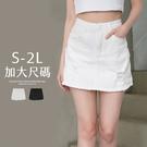 限量現貨◆PUFII-褲裙 彈力A字短裙褲裙加大尺碼- 0325 現+預 春【CP20056】