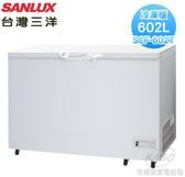 【佳麗寶】-(台灣三洋SANLUX)602L臥式冷凍櫃SCF-602T 預購