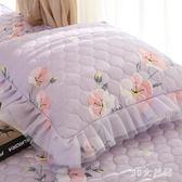 抱枕套靠墊套含芯抱枕芯沙發用外套春夏田園風蕾絲加厚抱枕 QG26333『M&G大尺碼』