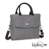 Kipling 簡約菱格手提側背包-中