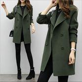秋冬季新款韓版氣質女裝毛呢外套修身顯瘦大碼中長款呢子大衣 城市科技