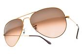 RayBan 太陽眼鏡 RB3025 9001A5 58mm (金) 經典百搭款 飛官墨鏡 # 金橘眼鏡