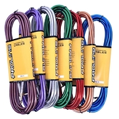 JYC Music 嚴選PRO LINE編織亮彩紋低雜訊導線-4.5米/高傳導L接頭-三入裝顏色隨機出貨