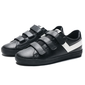 PONY 全黑 白色LOGO 皮革 魔鬼氈 休閒鞋 男女(布魯克林) 74U1TS61BK